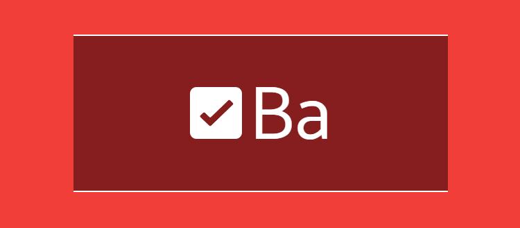 Иконка и буква B имеют одинаковую высоту
