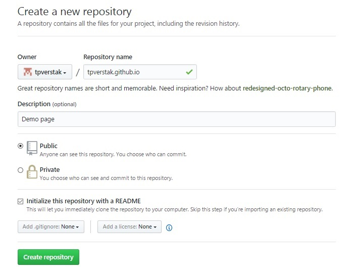 Step2 - Create a new repository