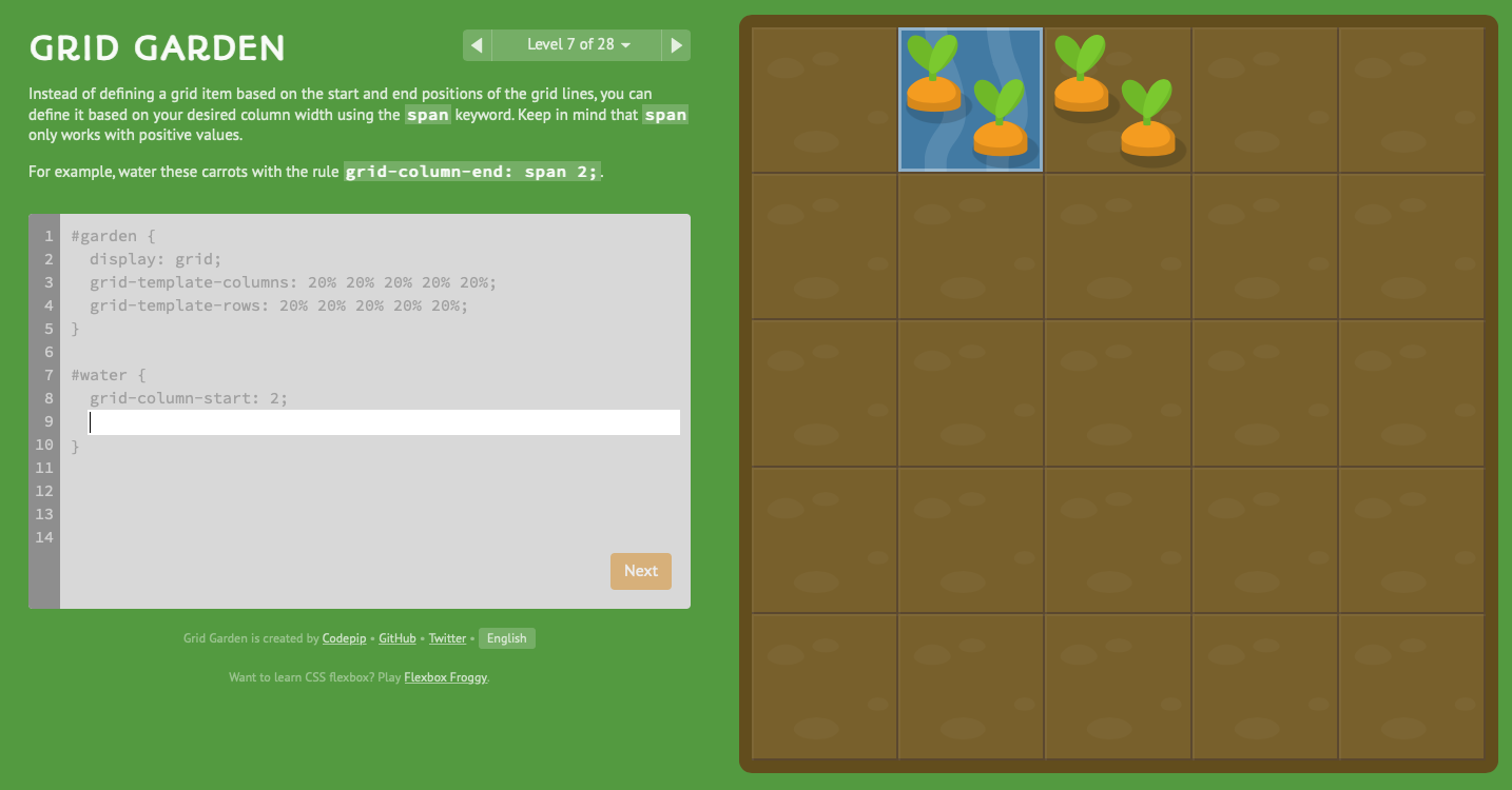 grid css frontend