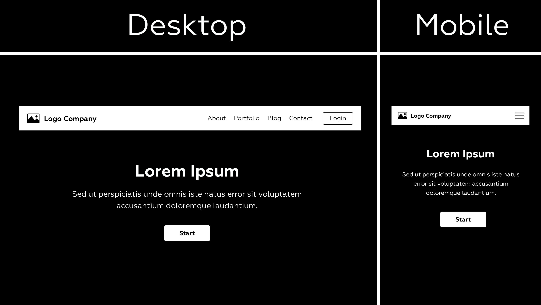 адаптивное меню сайта